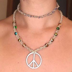 Jewelry - Hand Braided Hemp Necklace & Choker Set